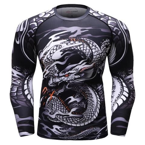 Gyms Body-Building Tee Shirts Rashguard Compression Tops Cross Fit Shirts Mens 3D Printed T-Shirt