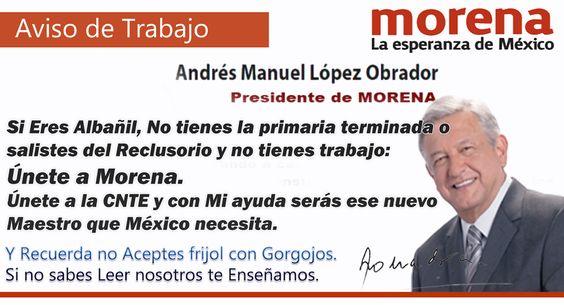 Aviso de Andres Manuel Lopez Obrador.