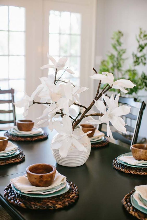 Fixer Upper Table Setting Farmhouse Design Pinterest