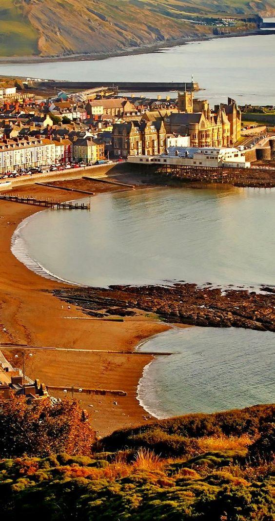 Aberystwyth ~ the principal holiday resort for the west coast of Wales, United Kingdom