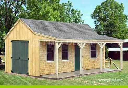 Make Building A Shed Easy With These 16x20 Shed Plans Shedplans Backyardprojects Shed With Porch Cottage Garden Sheds Building A Shed