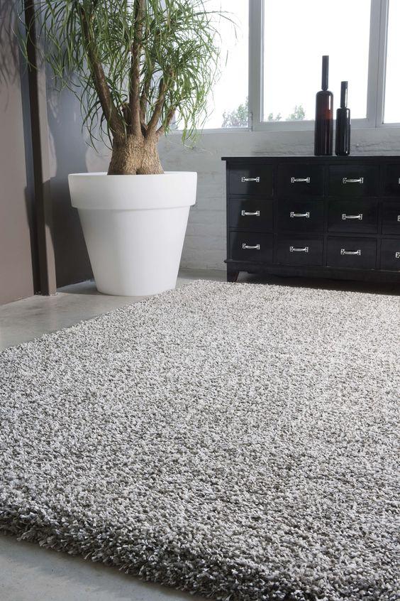 Alfombra de pelo largo modelo emere disponible en varios - Limpiar alfombra pelo largo ...