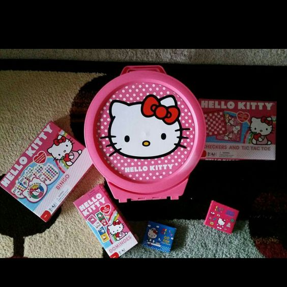 Hello kitty overnight tote and games