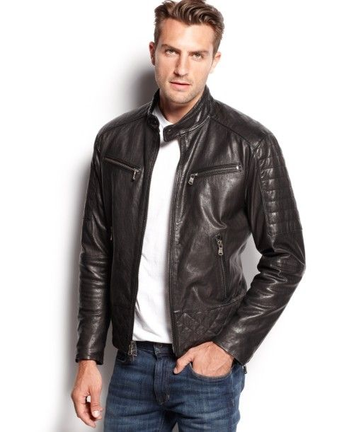 Michael Kors Quilted Washed Leather Jacket | Coat Jacket and