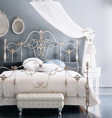 French Provincial Decor Rustic And Raw Meets Oh So Cosy White Iron Beds Iron Bed Frame Bedroom Vintage