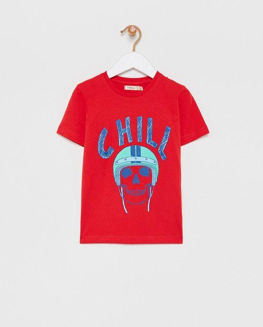 Camiseta De Nino Roja Con Calavera En 2020 Camisetas Camisetas