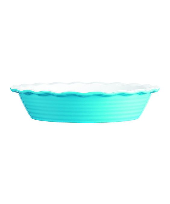 This Aqua Scallop 10.25'' Pie Plate by Home Essentials and Beyond is perfect! #zulilyfinds