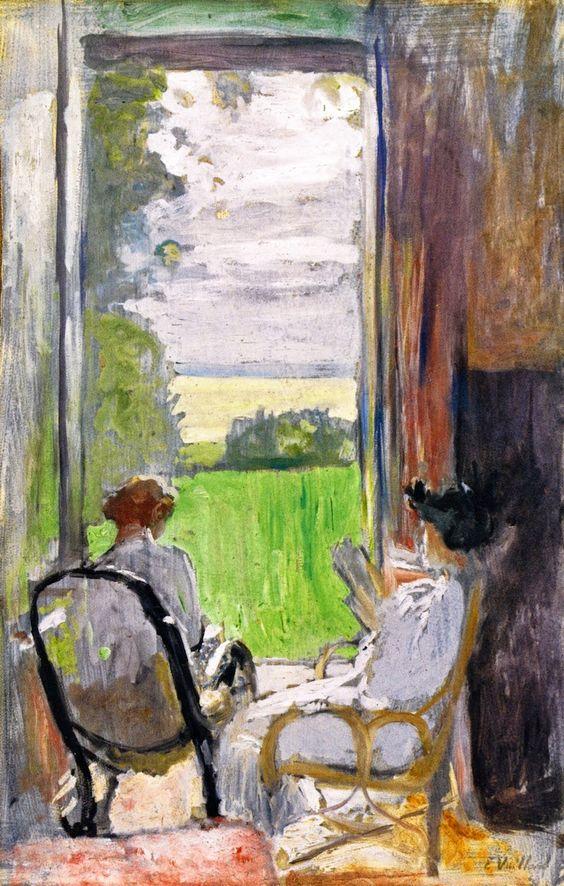 Édouard Vuillard - Lucy Hessel and Jeanne Strauss at Étincelles