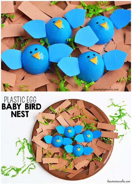 Plastic Egg Birds Nest Craft - I Heart Arts n Crafts
