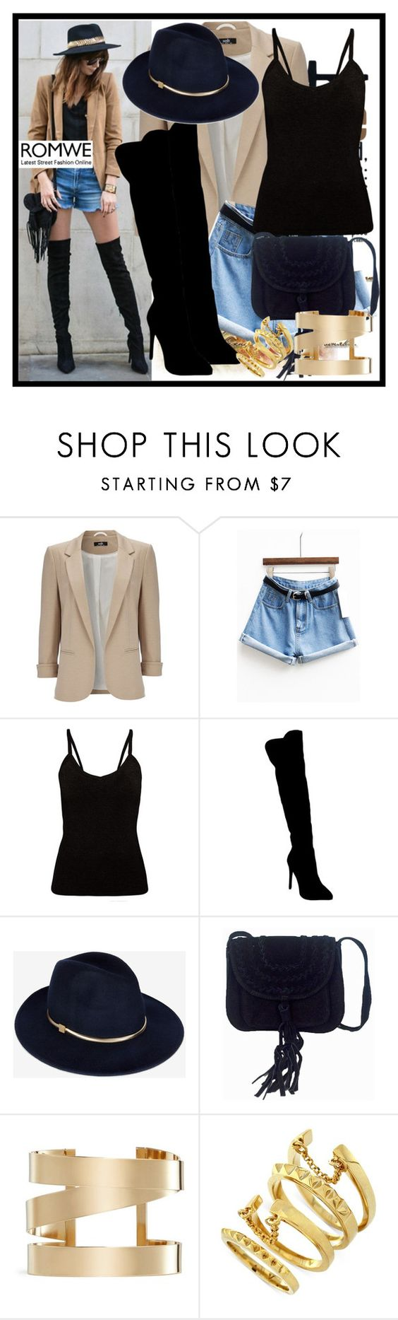 """ROMWE"" by deedee-pekarik ❤ liked on Polyvore featuring Wallis, Atmos&Here, Ted Baker, Isabel Marant, Vince Camuto, shorts, romwe and denimshorts"