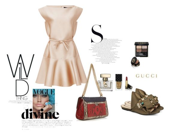 """""""F.r"""" by louloutralala on Polyvore featuring Gucci, N°21 and Paule Ka"""