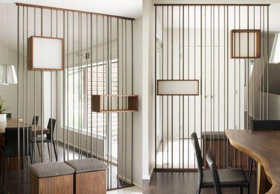 15 inspirations pour diviser une pi ce avec des claustras. Black Bedroom Furniture Sets. Home Design Ideas