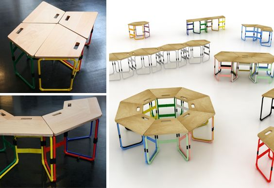 Cameleon project by Twin Truc designers - interesting pieces for children daycare centers