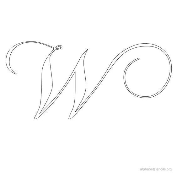 Print Free Alphabet Stencils Calligraphy W Stencils
