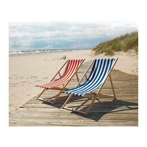 Chaises de plage ikea and plages on pinterest for Chaise de plage ikea
