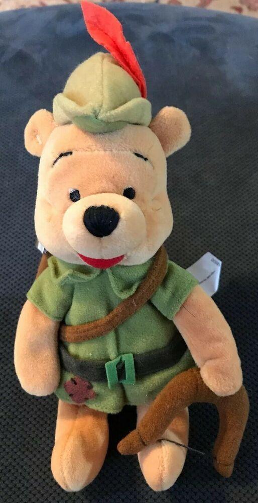 The Disney Store Robin Hood Mini Bean Bag-Beanie