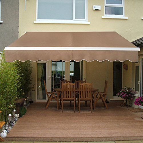 Super Deal Manual Retractable Patio Deck Awning Sunshade Shelter