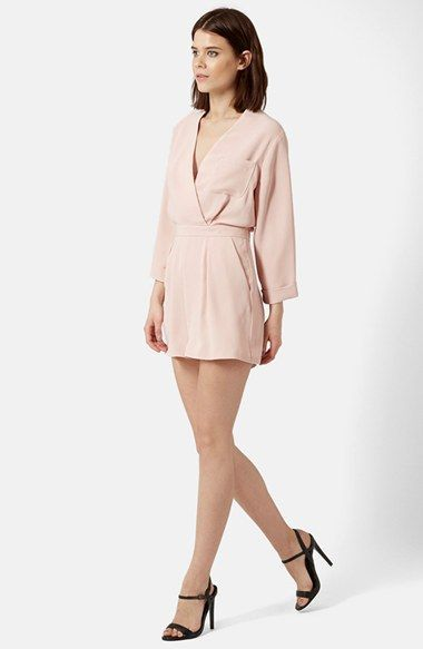 Topshop Wrap Front Romper available at #Nordstrom