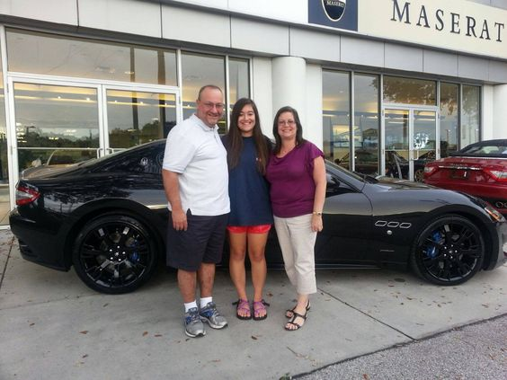 A big welcome to the newest members of the Maserati of Tampa family - the Gonzalezs ! Congratulations on your new 2013 #GranTurismo! #ReevesTampaFamily