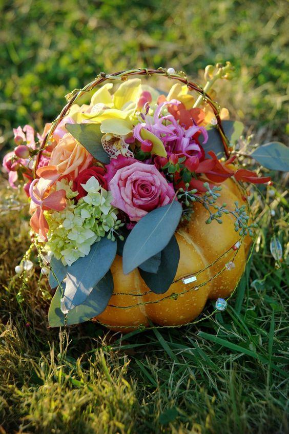 beautiful pumpkin arrangement