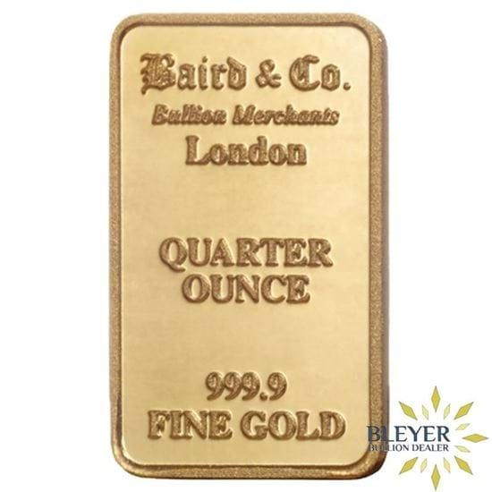 1 4oz Baird Co Minted Gold Bar Gold Bar Gold Bullion Coins Mint Gold