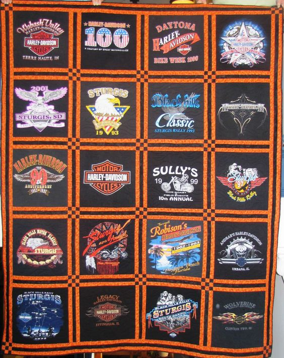 Awesome Harley quilts for all those shirts we own!