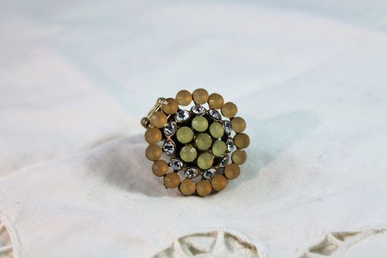 Fashion Stretch Ring with Faux Rhinestones and Crystals by amyrigs on Etsy