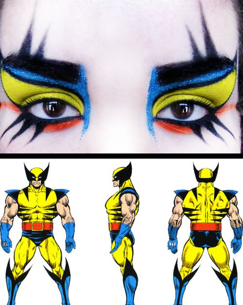 Wolverine inspired make-up. This looks awesome!