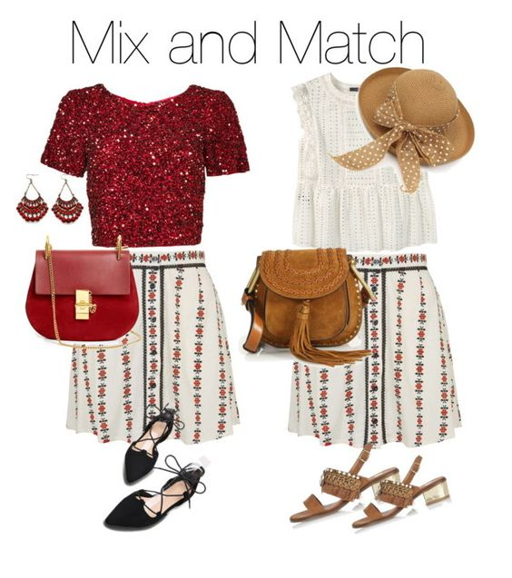"""""""Mix and Match"""" by nganguyen-iv on Polyvore featuring Topshop, Parker, Chloé, Violeta by Mango and River Island"""