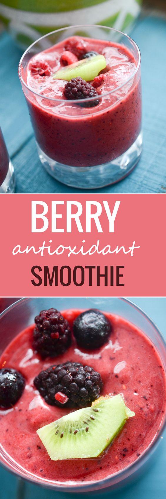Berry Antioxidant Smoothie - Recipe Diaries