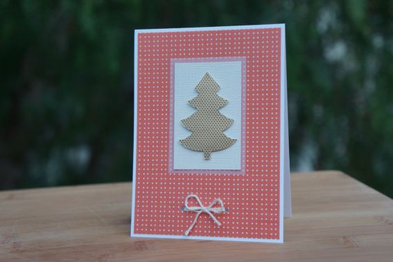 CHRISTMAS CARDS set of 4 on Etsy, $12.00
