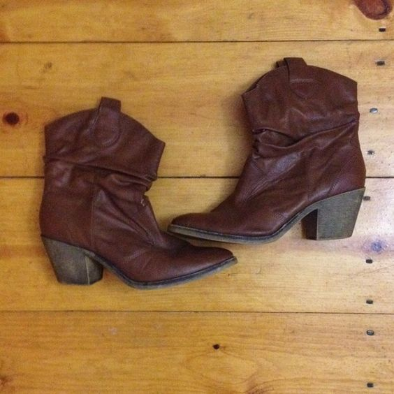 Heeled mid calf boots Adorable sassy mid calf boots! Cute and comfortable :) has some signs of wear but still in good condition. Style & Co Shoes Heeled Boots