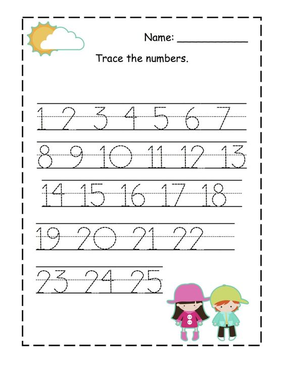 Number Tracing worksheet - 1-25 | Homeschooling: Number Tracing ...