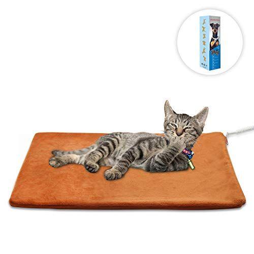 Marunda Pet Heating Pad Cat Dog Electric Pet Heating Pad Indoor Waterproof Auto Constant Temperature Chew Resistant Steel Cord Catothings Cats Themed Produ Pet Heating Pad Cat Pet Supplies Pets