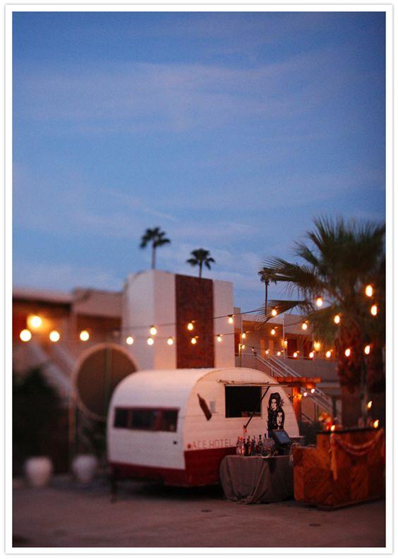 three-day ace hotel wedding with food trucks!