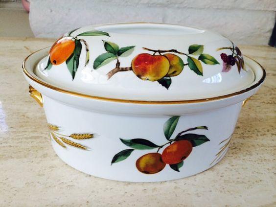 Vintage Royal Dorcester Evesham Oval Serving Dish by LovedaStuff