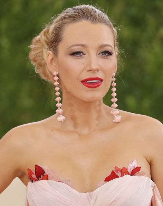 Blake Lively wears her hair in a twisted bun, our wedding hairstyle inspiration