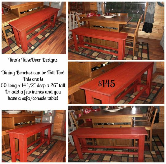tall rustic dining bench painted in rust colored chalk paint distressed applied dark bench painted chalk paint