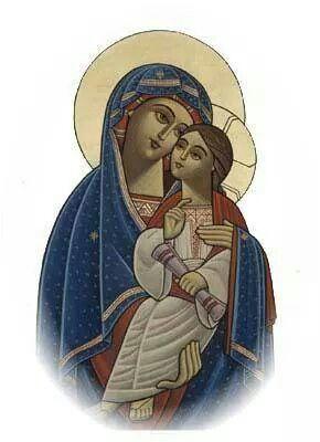 Modern Coptic Madonna:
