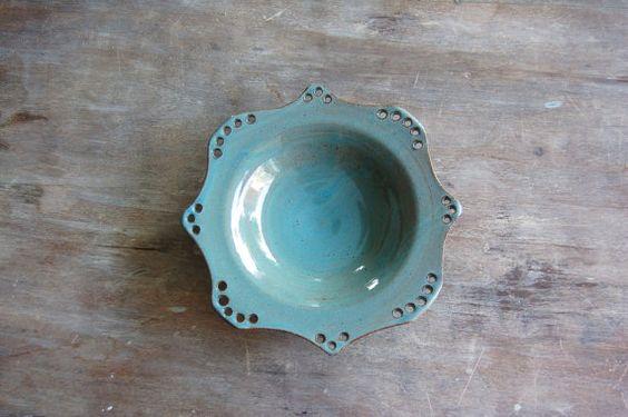 Handmade Jewelry Bowl Pottery Keramik Gift by JenniferBurkePottery
