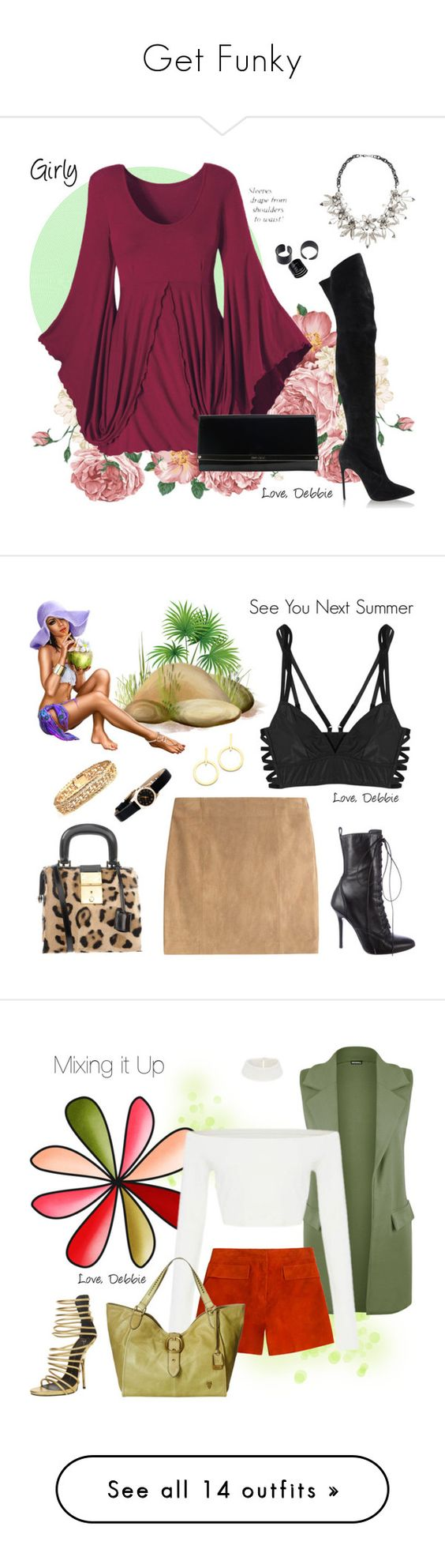 """""""Get Funky"""" by debbie-michailides ❤ liked on Polyvore featuring Casadei, John Lewis, Jimmy Choo, Lonely, Polo Ralph Lauren, Vita Fede, Marc by Marc Jacobs, Giuseppe Zanotti, Dsquared2 and WearAll"""