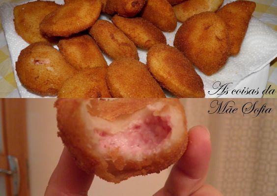 As coisas da Mãe Sofia: Rissois de queijo e fiambre / Ham and cheese rissoles