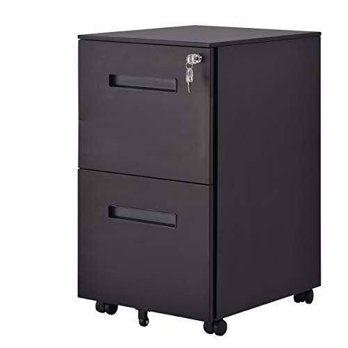 File Cabinet With Keys Lock 2 Drawers Vertical File Cabinet 5 Rolling Wheels Mobile Metal Filing Cabinet For Home A Filing Cabinet Metal Filing Cabinet Cabinet