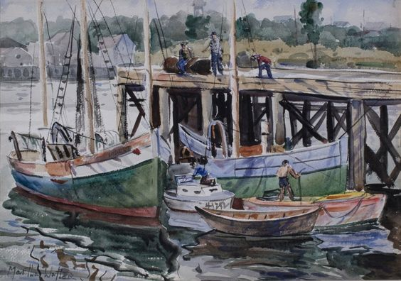 Martha Walter Am. 1875–1976 Gloucester Harbor: