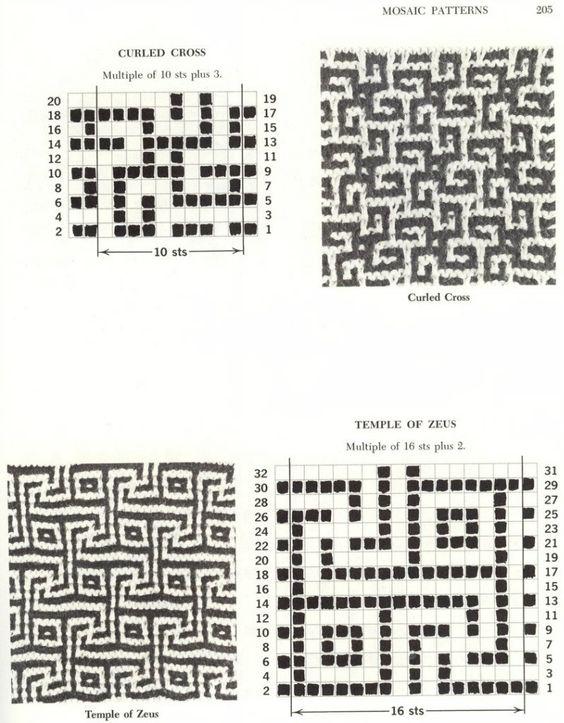 Ленивый жаккард - узоры и схемы | 19 фотографий