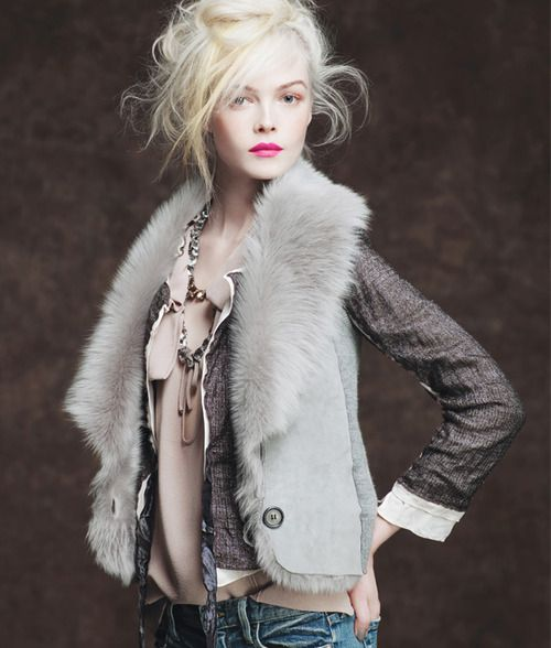 Portrait / {do you know the photographer?}. love this whole look. can I have platinum blond hair already? I mean seriously.