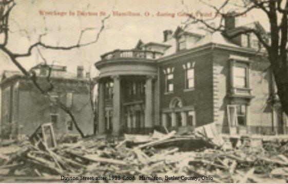 Dayton Street After 1913 Flooding Of The Great Miami River Hamilton Butler County Ohio Hamilton Pictures Hamilton Butler County