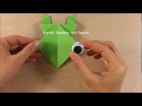 Frosch Falten Origami Frosch Basteln Origami Frog Diy Origami Origami