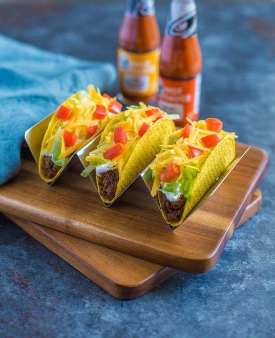 Taco Bell Crunchy Beef Tacos Copycat Recipe Recipe Tacos Beef Copycat Recipes Beef Recipes