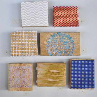Great DIY  texture prints for exploring print making.